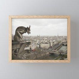 Gargoyle of Notre Dame Framed Mini Art Print