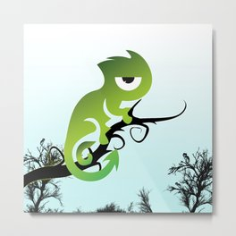 Baby Chameleon Metal Print