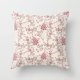 Delicate floral pattern. Throw Pillow