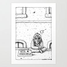 Bitte streicheln Art Print