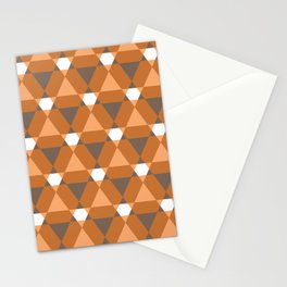 Reception retro geometric pattern Stationery Cards