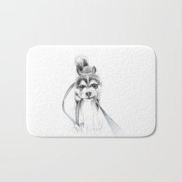 Perseverance :: A Siberian Husky Bath Mat