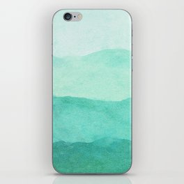 Ombre Waves in Teal iPhone Skin
