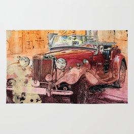 Watercolor Roadster Rug