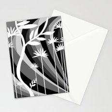 White Plants Stationery Cards
