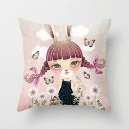 Sugar Bunny Throw Pillow