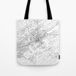 Minimal City Maps - Map Of Knoxville, Tennessee, United States Tote Bag