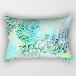 Mermaid Watercolor Rectangular Pillow