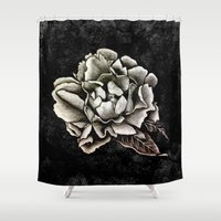 peony Shower Curtains featuring PEONY  by pike design