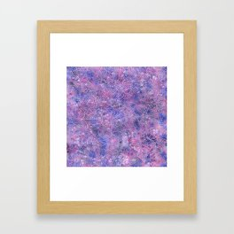 Purple and faux silver swirls doodles Framed Art Print