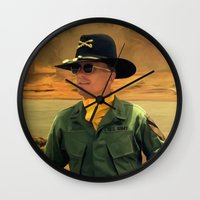 apocalypse now Wall Clocks featuring Robert Duvall @ Apocalypse Now by Gabriel T Toro