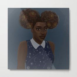 Black Girl Magic Metal Print