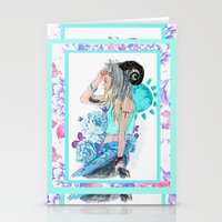 aries Stationery Cards featuring Aries by Sara Eshak