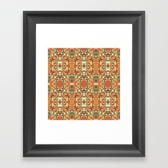 Aztec Quilt Framed Art Print