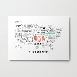 The Bergamot & The Unity Collective USA Official Logo Metal Print