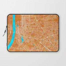 Baton Rouge, LA, USA, Gold, Blue, City, Map Laptop Sleeve