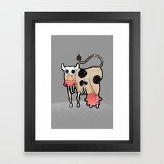 Cow Zombie Framed Art Print
