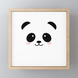 Baby panda emoji Framed Mini Art Print