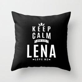 Lena Personalized Name Birthday Gift Throw Pillow