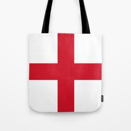 Flag of England (St. George's Cross) - Authentic version to scale and color Tote Bag