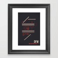 DFW Framed Art Print