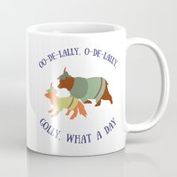 robin hood Mugs featuring Robin Hood and Little John by Ellie the Animator
