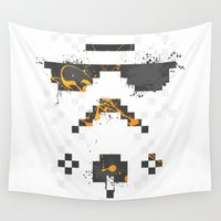 8 bit Wall Tapestries featuring 8-bit Trooper by Sitchko