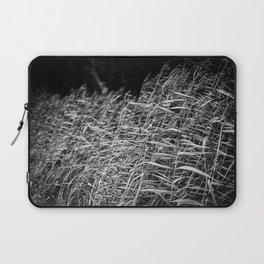 Waving Grass | The Netherlands | Black & White | Nature Photography | Fine Art Photo Print Laptop Sleeve