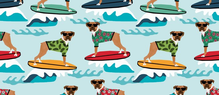 gifts for pet lovers. Boxer Surfing Pattern Cute Pet Gifts Dog Lovers Coffee Mug For