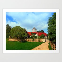 The pathway to Reichenau castle | architectural photography Art Print