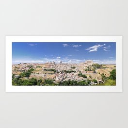 Toledo city, spain. Art Print
