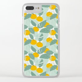 Tangerines Clear iPhone Case
