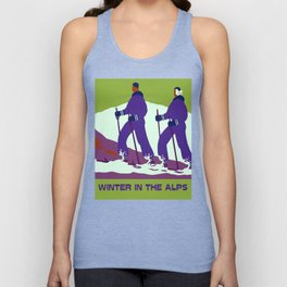 Winter in the Alps Unisex Tank Top