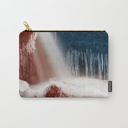 Winter Harmony Stream - Red White & Blue Carry-All Pouch