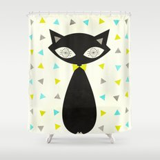 Mid Century Cat  Shower Curtain