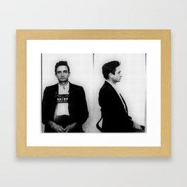 Johnny Cash Mug Shot Horizontal Framed Art Print