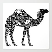 camel Canvas Prints featuring Camel by Sophie H.