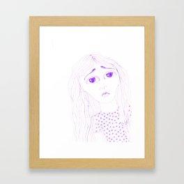 purple sadness2 Framed Art Print