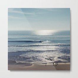 SILVER OCEAN1 Metal Print