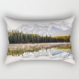 Lake, forest and mountains Rectangular Pillow