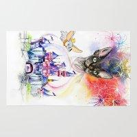 simba Area & Throw Rugs featuring Simba the princess sphynx by Psyca