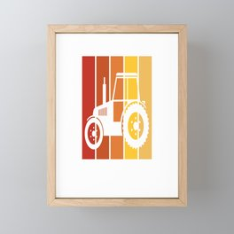 Just A Boy Who Loves Tractors - Farmer Tractor Love graphic Framed Mini Art Print