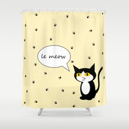 le Meow Shower Curtain
