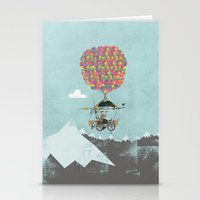 brompton Stationery Cards featuring Riding A Bicycle Through The Mountains by Wyatt Design