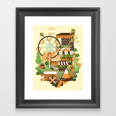 Let's Camp, shall we? Framed Art Print