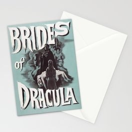 Brides of Dracula, vintage horror movie poster Stationery Cards