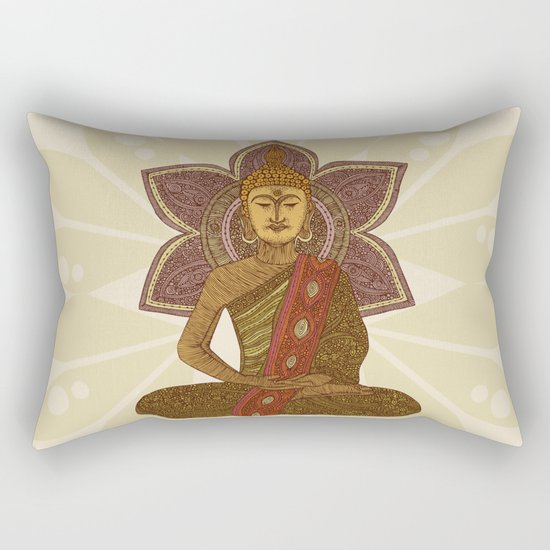 Sitting Buddha Rectangular Pillow