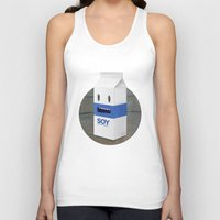 milk Tank Tops featuring Soy Milk by mrbiscuit