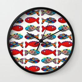 Abstract fish pattern Wall Clock