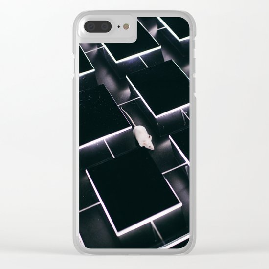 Mice in a maze Clear iPhone Case